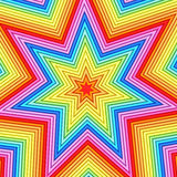 Star shape composed of colorful stock illustration