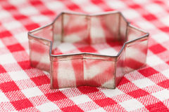 Star shape cookie cutter Royalty Free Stock Photo