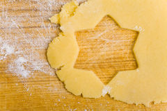 Star shape in cookie dough Royalty Free Stock Photo