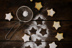 Star shape cookies Royalty Free Stock Photo