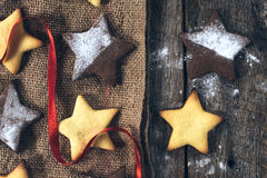 Star shape cookies Royalty Free Stock Images