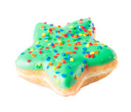 Star shape donut on background Stock Image