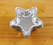 Star Shape Foil Baking Cup Royalty Free Stock Image