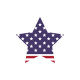 Star shape icon. USA design. Vector graphic. USA concept represented by star shape icon. isolated and flat illustration Royalty Free Stock Image