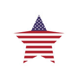 Star shape icon. USA design. Vector graphic. USA concept represented by star shape icon. isolated and flat illustration Royalty Free Stock Images