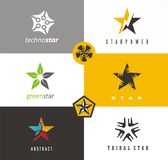 Star shape logo designs ideas. royalty free illustration