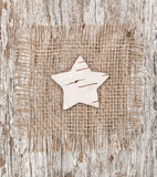 Star shape made of birch bark Royalty Free Stock Photos