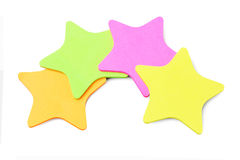 Star Shape Paper Stickers Stock Images