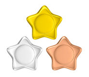 Star shape photo frame and badge Royalty Free Stock Photo
