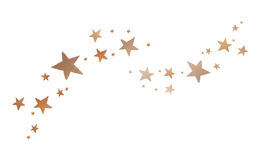 Star shape , recycle paper sheet board Royalty Free Stock Image