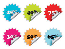 Star shape stickers Stock Images