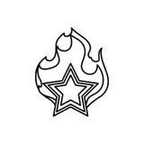 Star shape symbol Royalty Free Stock Photos