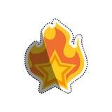 Star shape symbol Royalty Free Stock Photography