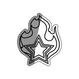 Star shape symbol Stock Image