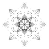 Star shape tile Royalty Free Stock Images