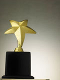 Star shape trophy. For winner stock photos