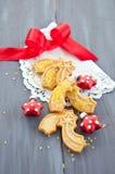 Star-shaped печенья для рождества стоковые фотографии rf