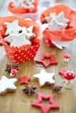 Star-shaped печенья циннамона для рождества Стоковые Фото