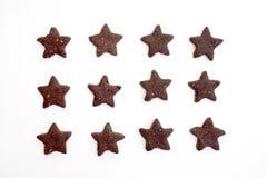 Star-shaped печенья шоколада Стоковая Фотография RF