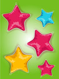 Star shaped balloons Royalty Free Stock Images