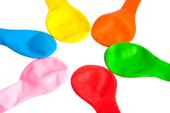 Star-shaped balloons Royalty Free Stock Images