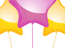 Star shaped balloons Stock Photography