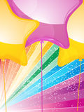 Star shaped balloons and starburst Stock Photography