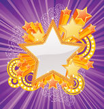 Star shaped banner Stock Photography