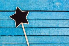 Star shaped blackboard Stock Photography