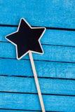 Star shaped blackboard Royalty Free Stock Photos