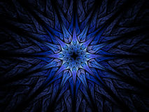 Star shaped blue fractal Royalty Free Stock Photography