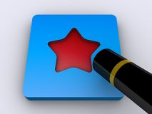 Star shaped button and wand Stock Image