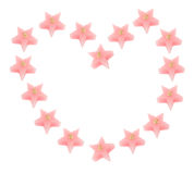 Star-Shaped Candles Royalty Free Stock Photo
