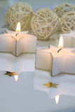 Star shaped candles Stock Image