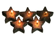 Star-Shaped Candles Stock Photography