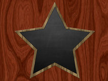 Star shaped chalkboard Royalty Free Stock Photos