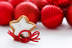 Star-shaped Christmas Cinnamon Royalty Free Stock Photos