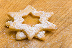 Star-shaped Christmas cookies Royalty Free Stock Photo