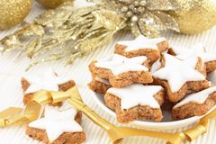 Star-shaped Christmas Cookies Stock Image