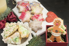 Star shaped Christmas cookies Royalty Free Stock Photography