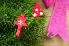 Star shaped Christmas decoration Stock Images