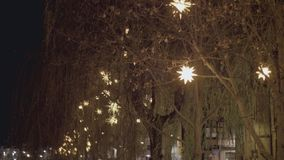 Star Shaped Christmas Decoration and Lights stock video