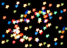 Star-shaped christmas lights Stock Images