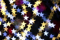 Star shaped christmas lights Royalty Free Stock Images