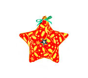 Star shaped Christmas ornament isolated on white background stock image