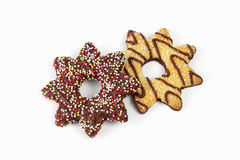 Star shaped christmas pastries on white background Stock Photo