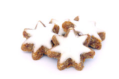 Star-shaped cinnamon biscuit Stock Images