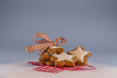 Star-shaped Cinnamon Biscuit Royalty Free Stock Photography
