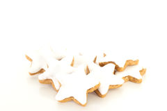 Star shaped cinnamon biscuit Royalty Free Stock Photo