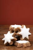 Star-shaped cinnamon biscuit Royalty Free Stock Photo